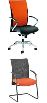 оранжевые стильные кресла и стулья для офиса respiro